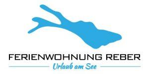 Logo blauer Bodensee mit Beschriftung der Ferienwohnung Reber